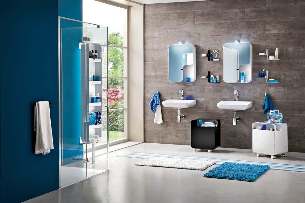 Salle de bains double lavabos